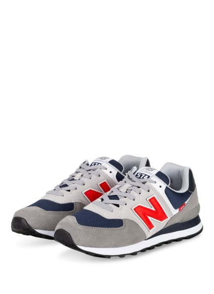 new balance Sneaker ML574, Farbe: GRAU/ ROT/ DUNKELBLAU (Bild 1)