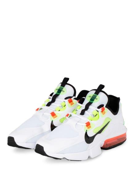 Nike Sneaker AIR MAX INFINITY, Farbe: WEISS/ SCHWARZ/ NEONGRÜN (Bild 1)