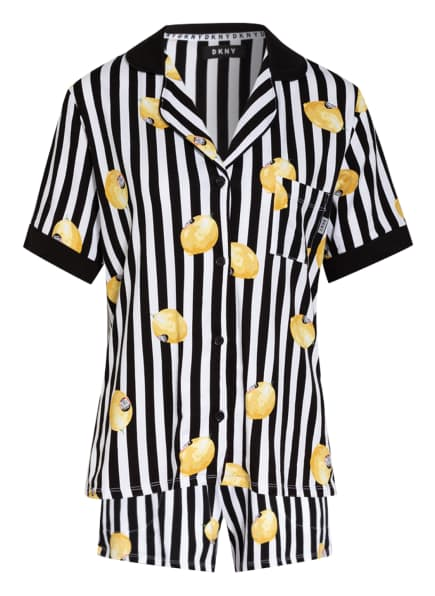 DKNY Shorty-Schlafanzug SPRING EDIT, Farbe: WEISS/ GELB/ SCHWARZ (Bild 1)