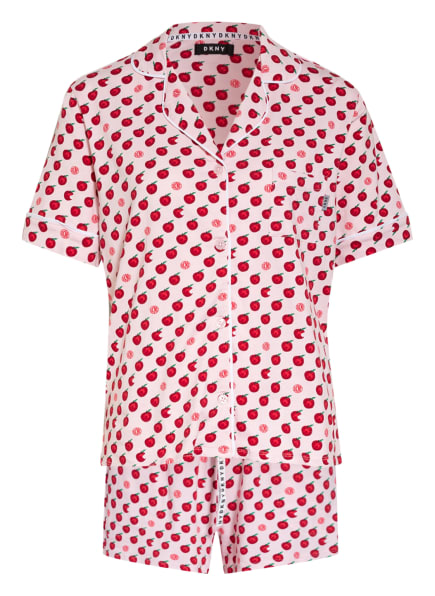 DKNY Shorty-Schlafanzug SPRING EDIT, Farbe: HELLROSA/ ROT/ GRÜN (Bild 1)