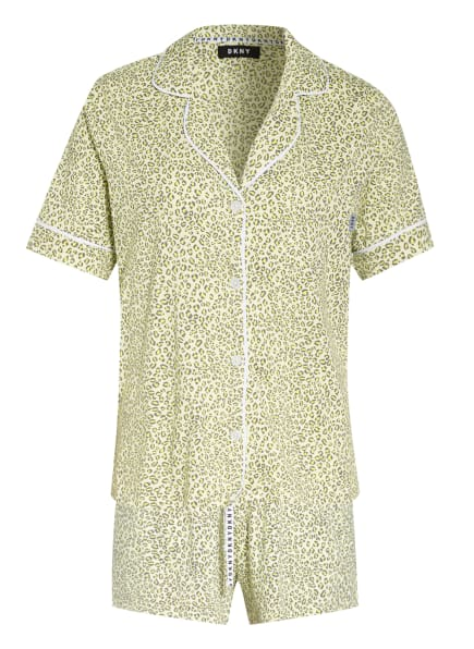 DKNY Shorty-Schlafanzug SPRING EDIT, Farbe: HELLGELB/ GRAU (Bild 1)