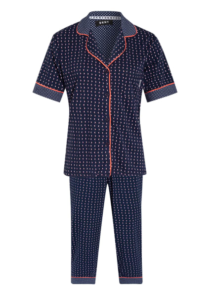DKNY 3/4-Schlafanzug SPRING EDIT, Farbe: DUNKELBLAU/ WEISS (Bild 1)