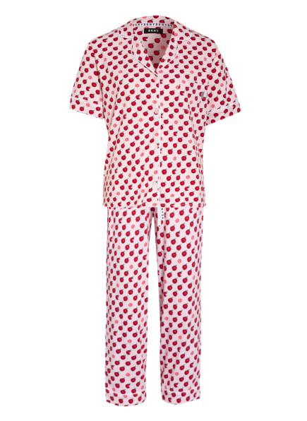 DKNY 3/4-Schlafanzug SPRING EDIT, Farbe: HELLROSA/ ROT/ GRÜN (Bild 1)