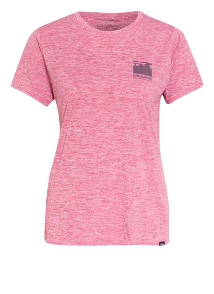 patagonia T-Shirt CAPILENE mit UV-Schutz 50+, Farbe: PINK (Bild 1)