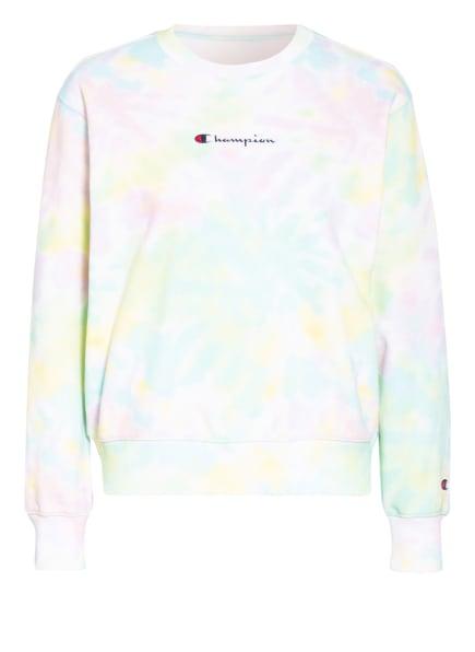 Champion Sweatshirt, Farbe: WEISS/ GRÜN/ HELLROSA (Bild 1)