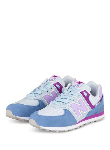 new balance Sneaker 574, Farbe: HELLBLAU/ HELLLILA (Bild 1)