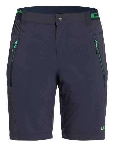 CMP Outdoor-Shorts mit UV-Schutz 30+, Farbe: SCHWARZ/ NEONGRÜN (Bild 1)
