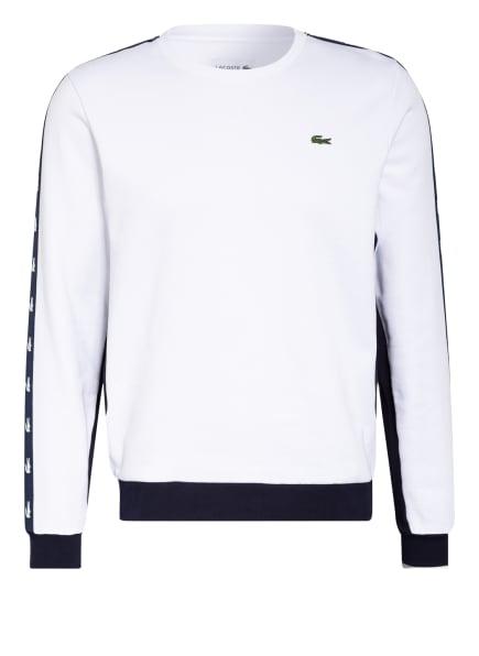 LACOSTE Sweatshirt mit Galonstreifen, Farbe: WEISS (Bild 1)