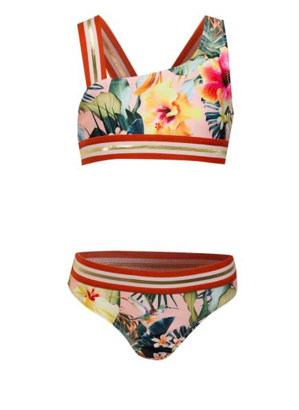 molo Bustier-Bikini NICOLA mit Glitzergarn, Farbe: NUDE/ GRÜN/ GELB (Bild 1)