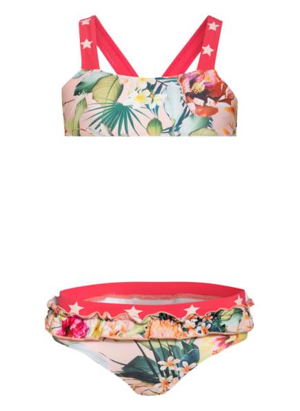 molo Bustier-Bikini NAILA mit UV-Schutz, Farbe: ROT/ NUDE/ GELB (Bild 1)