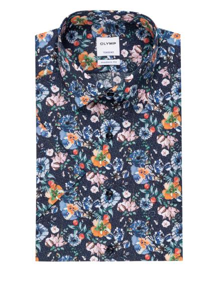 OLYMP Kurzarm-Hemd Tendenz modern fit, Farbe: DUNKELBLAU/ ORANGE/ ROSA (Bild 1)