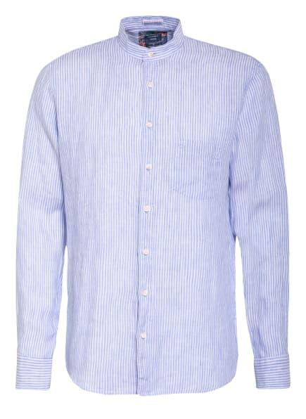 OLYMP Leinenhemd Casual modern fit mit Stehkragen, Farbe: HELLBLAU/ WEISS (Bild 1)