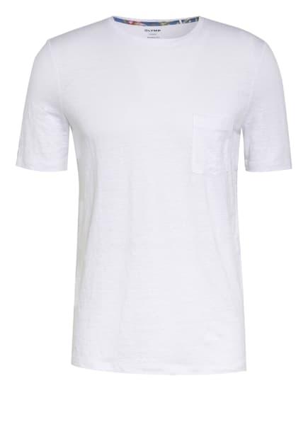 OLYMP T-Shirt aus Leinen, Farbe: WEISS (Bild 1)