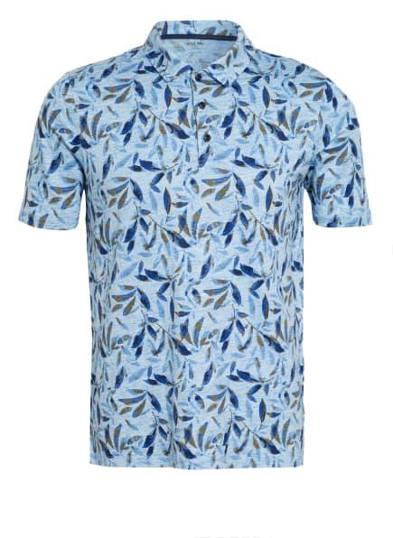 OLYMP Poloshirt modern fit aus Leinen, Farbe: BLAU/ HELLBLAU/ BRAUN (Bild 1)