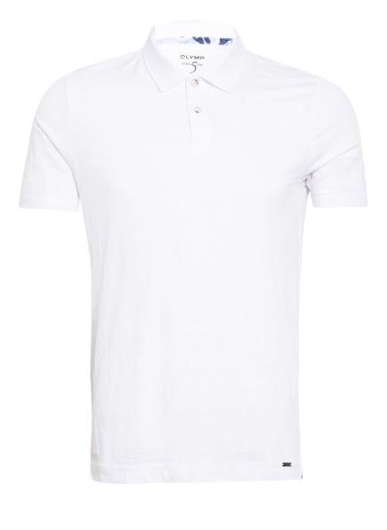 OLYMP Poloshirt Level Five body fit aus Leinen , Farbe: WEISS (Bild 1)