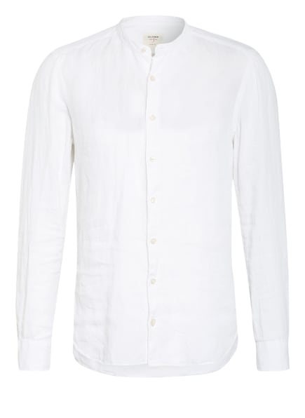 OLYMP Leinenhemd Level Five Casual body fit mit Stehkragen, Farbe: WEISS (Bild 1)