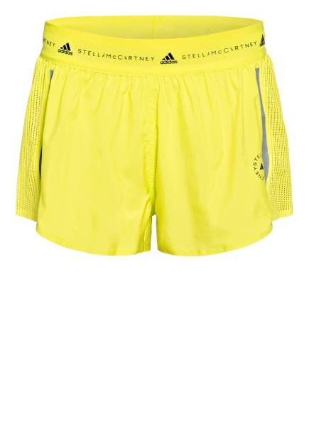 adidas by Stella McCartney Fitnessshorts TRUEPACE MULTIPURPOSE mit Mesh-Einsätzen, Farbe: NEONGELB (Bild 1)