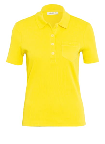 LACOSTE Jersey-Poloshirt, Farbe: GELB (Bild 1)