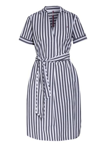 TOMMY HILFIGER Kleid, Farbe: WEISS/ DUNKELGRAU (Bild 1)