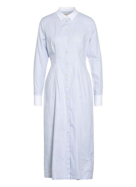 TOMMY HILFIGER Hemdblusenkleid mit Lochstickerei , Farbe: HELLBLAU/ WEISS (Bild 1)