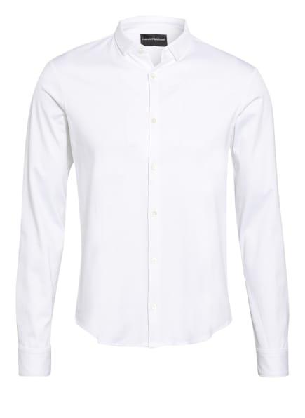 EMPORIO ARMANI Jerseyhemd Slim Fit, Farbe: CREME (Bild 1)