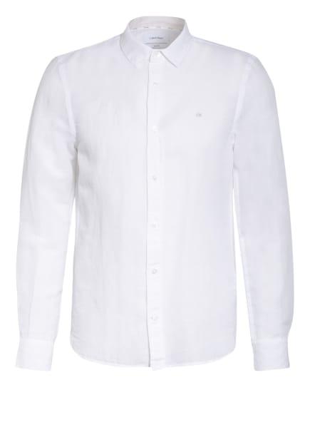 Calvin Klein Hemd Slim Fit mit Leinen, Farbe: WEISS (Bild 1)