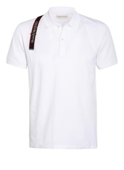 Alexander McQUEEN Piqué-Poloshirt Slim Fit, Farbe: WEISS (Bild 1)