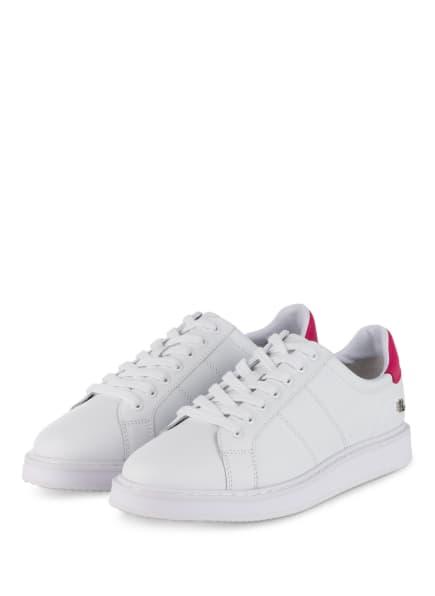 LAUREN RALPH LAUREN Sneaker ANGELINE II, Farbe: WEISS/ PINK (Bild 1)
