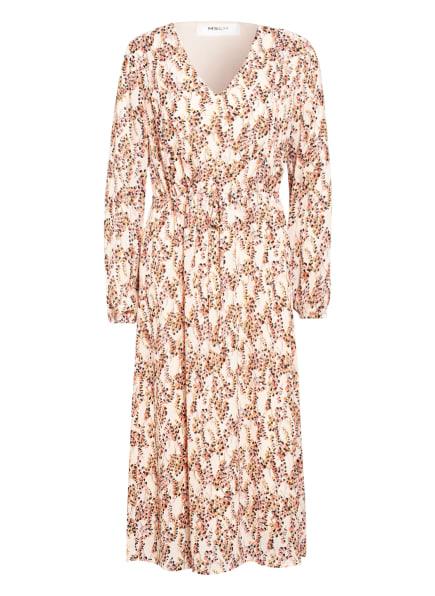 MOSS COPENHAGEN Kleid CAMLY RIKKELIE, Farbe: CREME/ SCHWARZ/ HELLROT (Bild 1)