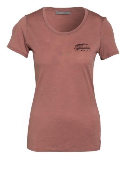 icebreaker T-Shirt TECH  LITE mit Merinowolle, Farbe: HELLROT (Bild 1)