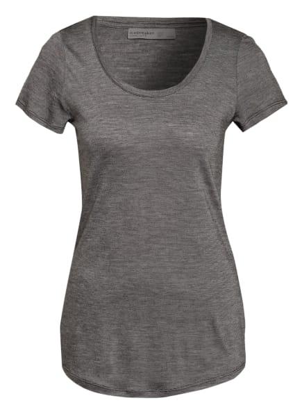 icebreaker T-Shirt COOL-LITE™ MERINO SPHERE, Farbe: SCHWARZ/ GRAU (Bild 1)