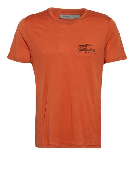 icebreaker T-Shirt TECH LITE aus Merinowolle, Farbe: DUNKELORANGE (Bild 1)