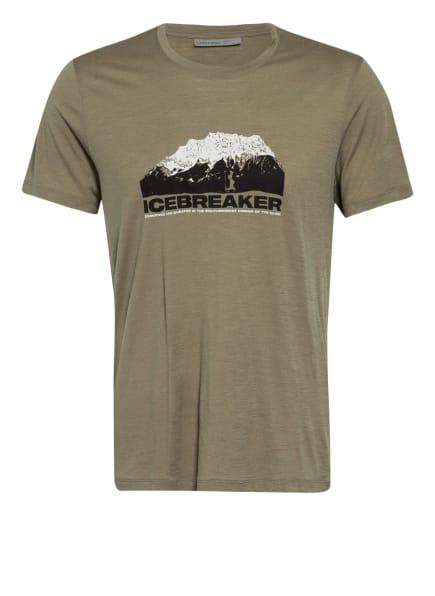 icebreaker T-Shirt TECH LITE aus Merinowolle , Farbe: KHAKI (Bild 1)