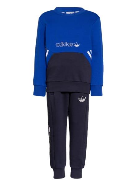 adidas Originals Set SPRT COLLECTION: Sweatshirt und Sweatpants, Farbe: BLAU/ DUNKELBLAU (Bild 1)