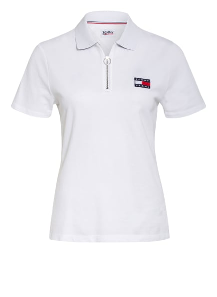 TOMMY JEANS Piqué-Poloshirt, Farbe: WEISS (Bild 1)
