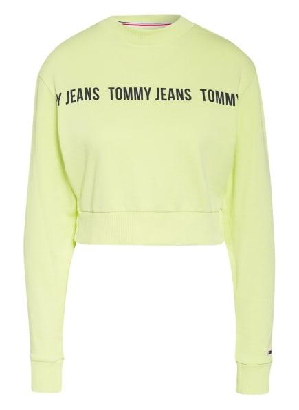 TOMMY JEANS Cropped-Sweatshirt, Farbe: HELLGELB (Bild 1)