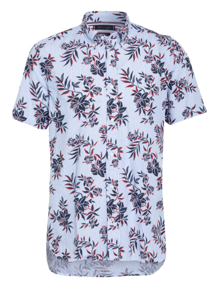 TOMMY HILFIGER Kurzarm-Hemd Regular Fit, Farbe: WEISS/ HELLBLAU/ DUNKELBLAU (Bild 1)
