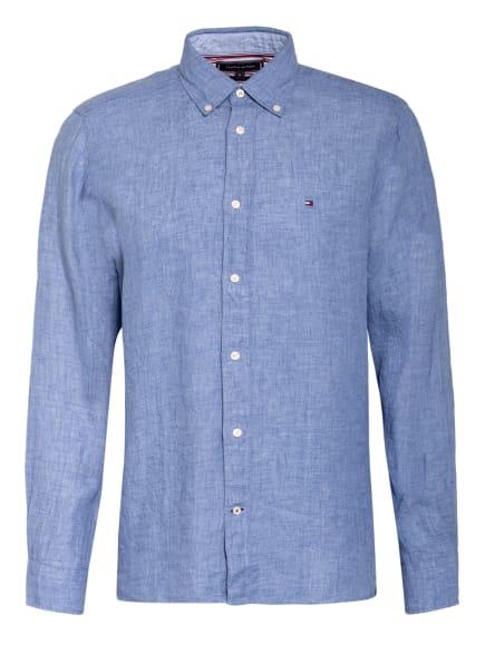 TOMMY HILFIGER Leinenhemd Regular Fit, Farbe: BLAU/ HELLBLAU (Bild 1)