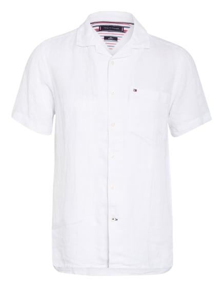 TOMMY HILFIGER Resorthemd Regular Fit aus Leinen, Farbe: WEISS (Bild 1)