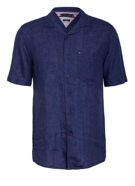 TOMMY HILFIGER Resorthemd Regular Fit aus Leinen, Farbe: DUNKELBLAU (Bild 1)