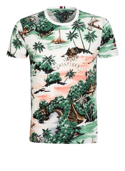 TOMMY HILFIGER T-Shirt, Farbe: WEISS/ GRÜN/ NUDE (Bild 1)