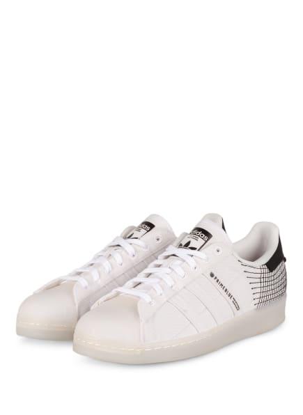 adidas Originals Sneaker SUPERSTAR PRIMEBLUE, Farbe: WEISS/ SCHWARZ (Bild 1)