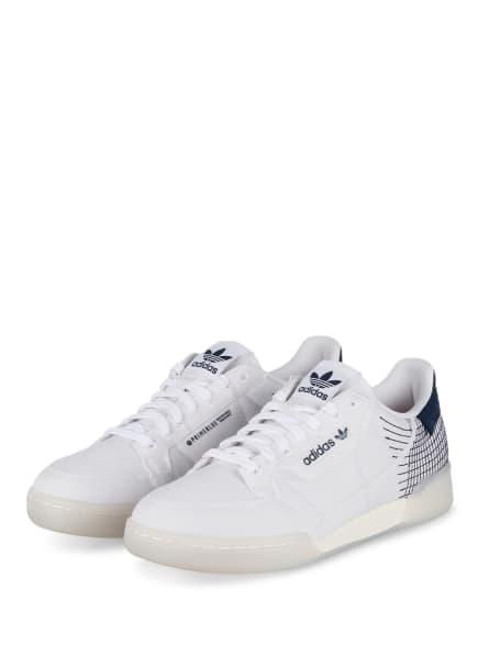 adidas Originals Sneaker CONTINENTAL 80 PRIMEBLUE, Farbe: WEISS/ DUNKELBLAU (Bild 1)