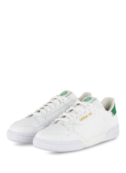 adidas Originals Sneaker CONTINENTAL 80, Farbe: WEISS/ GRÜN (Bild 1)