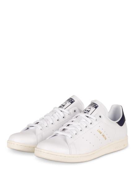adidas Originals Sneaker STAN SMITH PRIMEGREEN, Farbe: WEISS/ DUNKELBLAU (Bild 1)