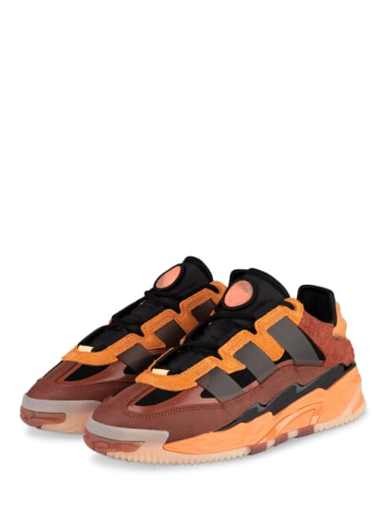 adidas Originals Sneaker NITEBALL, Farbe: SCHWARZ/ ORANGE/ DUNKELROT (Bild 1)