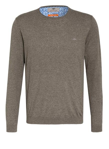 FYNCH-HATTON Pullover mit Leinen, Farbe: OLIV (Bild 1)