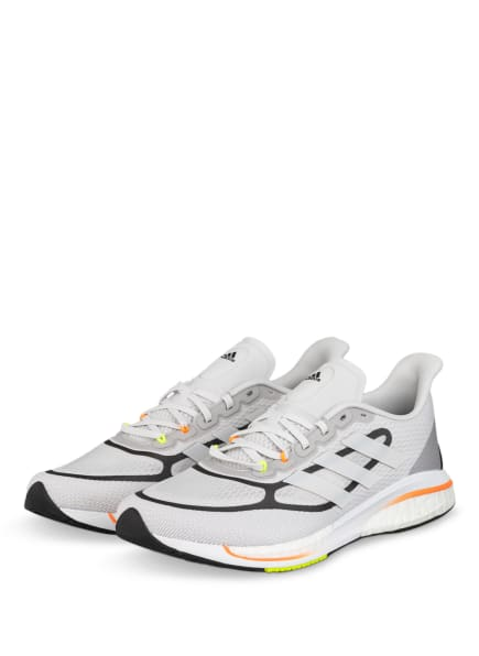 adidas Laufschuhe SUPERNOVA+, Farbe: WEISS/ HELLGRAU (Bild 1)
