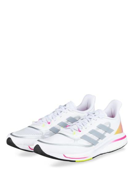 adidas Laufschuhe SUPERNOVA, Farbe: WEISS/ GRAU (Bild 1)