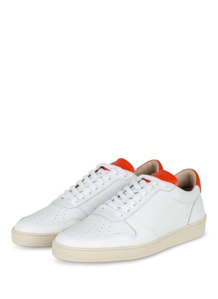 ZESPÀ, AIX-EN-PROVENCE Sneaker, Farbe: WEISS/ DUNKELORANGE (Bild 1)